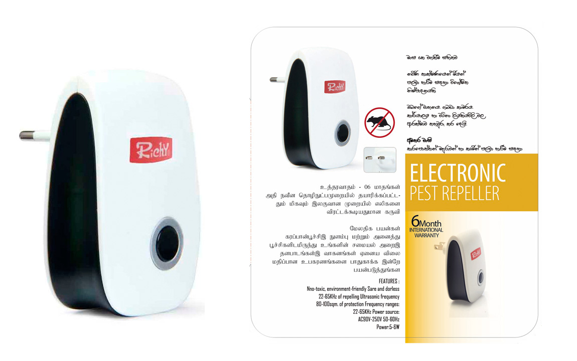 Richy Electronic Pest Repeller - Ultrasonic Pest Repellers